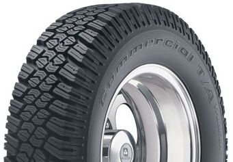 BF Goodrich Commercial T/A Traction LT235/75R15/6 tires